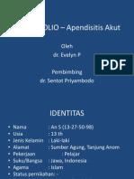 PORTOFOLIO – Apendisitis Akut