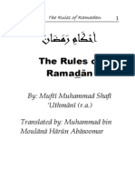 The Rules of Ramadan By Mufti Mahomed Shafi Saheb R.A.