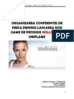 Organizarea Conferintei de Presa Privind Lansarea Noii Game de Produse Wellness by Oriflame