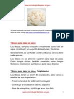 Los hongos tibicos sirven para bajar de peso