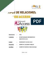 Trabajo de Investigacion - Tipos de Relaciones Access