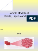 Particle models of solids, liquids and gases