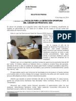 15/05/14 TABÚES, OBSTACULOS PARA LA DETECCIÓN OPORTUNA DE CÁNCER DE PRÓSTATA