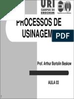 Processos de Usinagem i - Aula 03 - Geometria Da Ferramenta de Corte