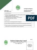 App form for registered Engineer