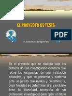 13 El Proyecto de Tesis