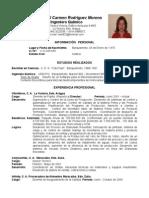Curriculum Mariela