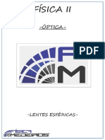 Ficha 15- Fisii - Óptica - Lentes Esféricas