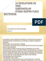 Substanţele Revelatoare de Placă Dentară