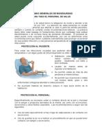 Normas Generales de Bioseguridad Sala de p Menores