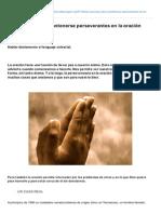 Las razones para mantenerse perseverantes en la oración