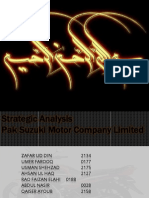 Strategic analysis pak suzuki motors