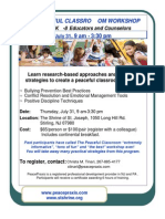 The Peaceful Classroom Workshop