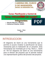 Programa de Gantt - Expo