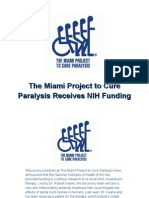 The Miami Project to Cure Paralysis Receives NIH Funding