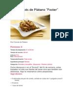 Pan Francés de Plátano