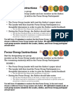 Focus Group Instructions & Notes