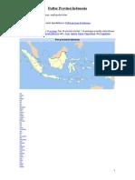 Daftar Provinsi Indonesia