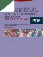 San Gregorio Magno - Vida de San Benito Y Otras Historias de Santos Y Demonios - Dialogos