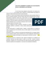 El Estrés y Su Relacion Con El Rendimiento Academico en Los Estudiantes de Obstetricia Del 2 Año de La Universidad Alas Peruanas