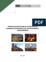 Demanda Ocupacional de los Sectores de Minería e Hidrocarburos en el Perú