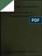 Joaquim Nabuco Conferencias Nos Estados Unidos