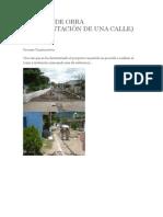 Crónica de Obra de Pavimentación