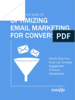 EMail Marketing - Optimizing