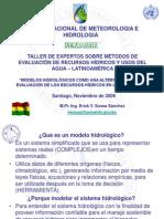 Bolivia - Sossa - Modelos Hidrologicos