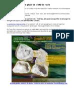 Pourquoi utiliser une géode de cristal de roche