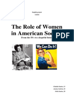 The Role of Women in American Society FINAL
