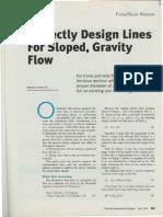Gravity Flow Lines
