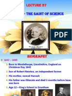 Lecture 27 newton saint of science