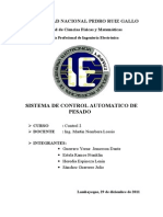 Sistema de Control Automatico de Pesado de Gelatina en Polvo