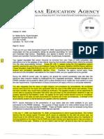 CFBISD Appeal Denial Letter From TEA October 27 2009