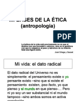 BASES ANTROPOLÓGICAS PARA LA ÉTICA