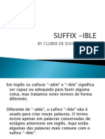 Suffix -ible
