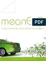 MeanEco Environmentally Friendly Taxi Service