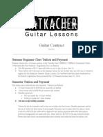 Ratkacher Guitar Contract 2014-15
