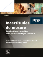 Incertitudes de Mesures t