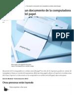 Cómo Imprimir Un Documento de La Computadora en Ambas Caras Del Papel _ EHow en Español