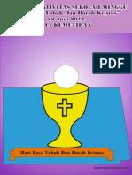 Bahan Kreativitas Sekolah Minggu 22 Juni 2014 PIA Kumetiran