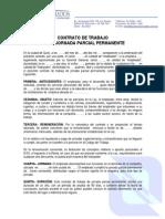 Modelo - Contrato de Trabajo Jornada Parcial Permanente - AGUIRRE Y ASOCIADOS