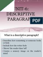 Unit 6descriptiveparagraph 110511134700 Phpapp02