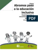 Foro Abramos paso a la educación inclusiva. Experiencias y recomendaciones de política.pdf