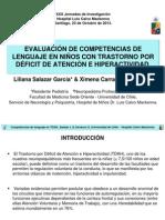 Evaluación de Competencias de Lenguaje en Niños Con Trastorno Por Déficit de Atención e Hiperactividad