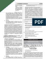 D.S N° 063-2012-PCM Modifican al reglamento D.S N° 019-2003-PCM