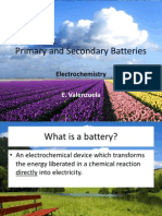 Primary and Secondary Batteries