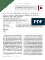 Curcumin Derivatives Inhibit Testicular 17β Hydroxysteroid Dehydrogenase 3 2010 Bioorganic & Medicinal Chemistry Letters