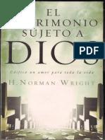 h Norman Wrigth El Matrimonio Sujeto a Dios